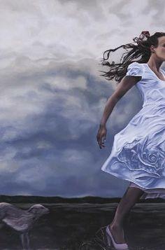 """Storm chasing dog chasing girl chasing storm"" by Geraldine Javier"