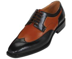 Bolano Mens Two Tone Green And Brown Oxford Dress Shoe