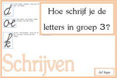 hoe schrijf je de letters in groep 3 - juf Inger