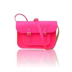 Neon pink vintage style bag