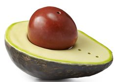Season your food on the sly with these avocado salt and pepper shakers. Artist Daina Platais casts each earthenware set from real avocadoes. The pit of the avocado serves as a pepper shaker, while the bumpy avocado half houses the salt. Salt N Peppa, Kitchen Gifts, Kitchen Items, Kitchen Gadgets, Kitchen Stuff, Kitchen Dining, Kitchen Shelves, Kitchen Tools, Gifts For Cooks
