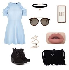 """""""Spring outfit."""" by olympia-valance ❤ liked on Polyvore featuring New Look, Red Herring, STELLA McCARTNEY, Betsey Johnson, Missguided and Topshop"""