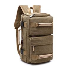 Canvas Backpack Large Capacity Multifunctional Leisure Travel Clutch Bag  Crossboby Bag For Men Canvas Backpack, e99cfa6b0d
