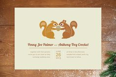 I'm Nuts for You Wedding Invitations by Kimberly Morgan at minted.com