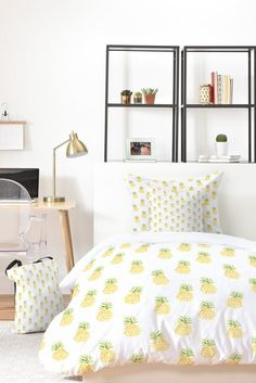 25% off with code DECOR! Pineapple themed bedroom! Pineapple Express Bed in a Bag Bedding Set by Wonder Forest