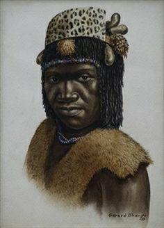 Portrait of an African maiden By Gerard Bhengu