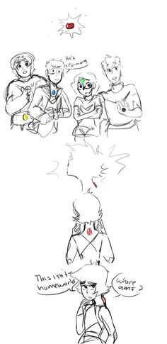 so i finally fleshed out my voltron su au here's a quick sketch ^_^ -- VOLTRON STEVEN UNIVERSE YES PLEASE