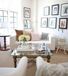 Romantici colori pastello - I colori pastello sono perfetti per arredare un salotto accogliente con un tocco di romanticismo.