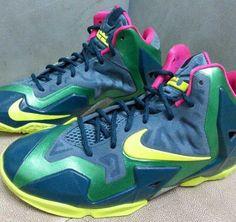 Preview: Nike LeBron XI   Blue, Green & Yellow