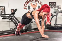 Do this X jump pushup exercise to tone your arms and sculpt sexy abs. Check out this WWE total diva workout with Eva Marie