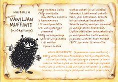 Haisulin vaniljamuffinit - kortti