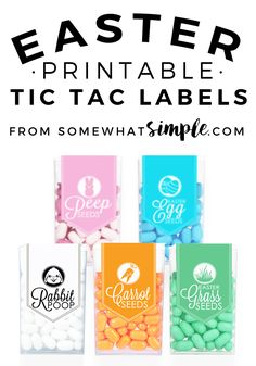 These Easter Tic Tac Labels are the perfect little gift for friends and neighbors this Easter season!