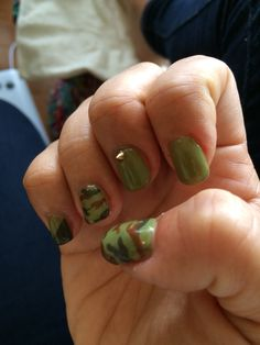 2014/Oct. Camo nail with spikes/ right :D Cuuuutest nail design everrrrr!