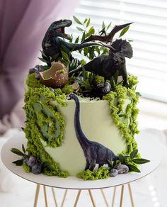 Animal Birthday Cakes, Cool Birthday Cakes, Boy Cakes, Cakes For Boys, Dinosaur Cake, Cake Images, Party Cakes, Beautiful Cakes, Envy