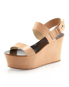 Vera Wang Lavender Taryn Double-Strap Wedge Sandal