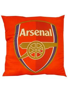 Arsenal FC Cushion measures 40 cms x 40 cms, 16in x 16in Arrives sealed in original packaging and is vacuum packed