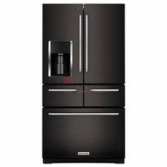 KitchenAid KRMF706EBS Black Stainless Steel at TA Appliances