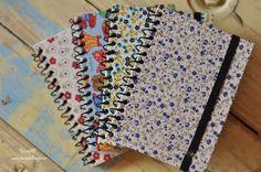 Cadernos encapados com tecido e uma novidade