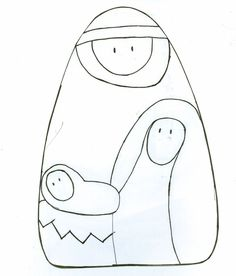 Añadir Pin de imagen Nativity Ornaments, Nativity Crafts, Felt Christmas Ornaments, Christmas Nativity, Felt Crafts, Christmas Crafts, Christmas Rock, Christmas Makes, Christmas Holidays