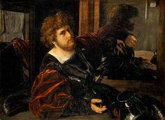 Giovanni Girolamo Savoldo - Self-Portrait, formerly called Portrait of Gaston de Foix
