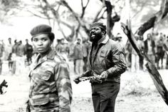 near Lucusse, Angola) Angolan guerrilla leader and politician.