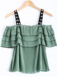 SHARE & Get it FREE | Cold Shoulder Tiered Ruffle Women's Chiffon TopFor Fashion Lovers only:80,000+ Items • New Arrivals Daily • Affordable Casual to Chic for Every Occasion Join Sammydress: Get YOUR $50 NOW!