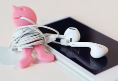 SICK OF TANGLED HEADPHONE AND CHARGER CABLES? Introducing our AWESOME new Cable Buddies... Durable and washable