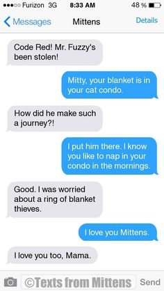 NEW Daily Mittens: The Blanket Thieves Edition More Mittens: http://textsfrommittens.com/  Order the Mittens book: http://www.amazon.com/Texts-From-Mittens-Unlimited-Afraid/dp/0373893221
