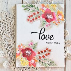 Love Never Fails Card by Heather Nichols for Papertrey Ink (December 2016)