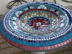 Showcase Mosaics Photos Of Mosaic Birdbaths, Tables And Sculpture    Showcaseu2026