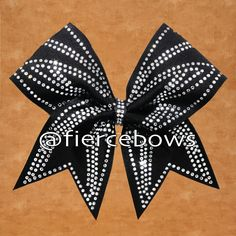 Abstract Rhinestone Cheer Bow – Fierce Bows