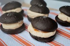 Salted Caramel Whoopie Pies; I have the best whoopie pie recipe, but I'm always looking for filling ideas.