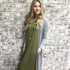 We our down to our last beautiful green maxi dress. Right now it's on sale for 18.95 and the last one is a medium!
