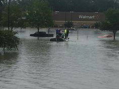 Wal Mart in the back ground of Denham Springs, La 2016 #louisianaflood #prayforlouisiana #rebuild #louisiana
