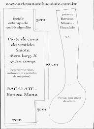 Resultado de imagem para MOLDES DE BONECAS DE PANO