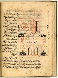 A joint project of the British Library and the Qatar Foundation is now offering free access to 25,000 pages of medieval Islamic manuscripts. See here: http://www.qdl.qa/en  Before Christiaan Huygens, came the book The Book of Knowledge of Ingenious Mechanical Devices (1206 A.D.), which was inspired by an earlier, 9th-century translation of Archimedes' writings. Above shows the internal workings of a water-clock. From 'The Book of Archimedes on the Construction of Water-Clocks'.