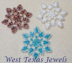 Snowflake 3 Beaded Ornament Pattern