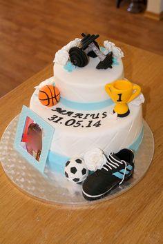 Sports-inspired birthday cake