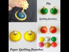 How To Make Jhumka Shape Perfectly Quilling ||Jhumka Making Tips||how to make paper base jhumkas - YouTube