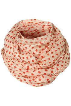 Polka Dot Snood. Amazing with a tank, shorts, and sandals in the summer!