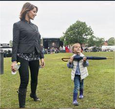 Princess Marie, Prince Joachim, Prince Nikolai, Prince Felix, Prince Henrik and Princess Athena attended the Tønder Festival concert on August 30, 2015.