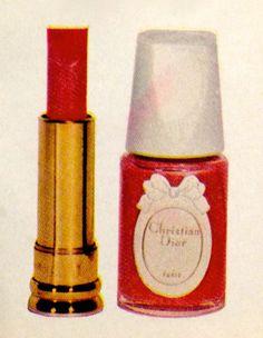 Christian Dior Lipstick & Nail Polish, 1965