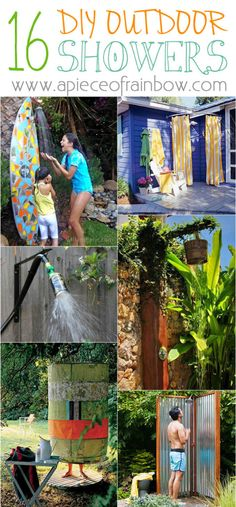 Ready for a Splash? 16 DIY Outdoor Shower Ideas