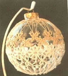 """Free Pattern for tatted ornament  Terry McGuffin's """"Meadow Song"""""""