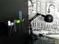 Pokój nastolatka - Organizer z puszek nad biurko DIY Washi, Cinema, Deco, Movies, Movie Theater
