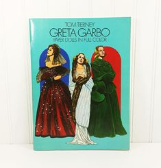 Greta Garbo Paper Dolls in Full Color by Tom Tierney, 1985 Dover Softcover 1930s Hollywood