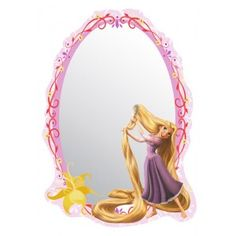 Aranyhaj gyerek tükör Rapunzel, Disney Bedrooms, Wedding Hair Down, Emoji Wallpaper, Wall Mounted Mirror, Wedding Looks, Tangled, Walt Disney, Kids Room