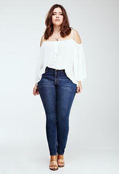 Jeans Skinny Clásicos | Forever 21 Plus - 2049257961                                                                                                                                                                                 Más