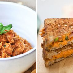 Paprykarz jaglany w wersji wegańskiej - domowa fit wersja Salmon Burgers, Chicken, Ethnic Recipes, Food, Diet, Essen, Meals, Yemek, Eten