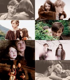 Peter and Lucy narnia Lucy Pevensie, Susan Pevensie, Peter Pevensie, Edmund Pevensie, Narnia Cast, Narnia 3, Narnia Movies, William Moseley, Georgie Henley